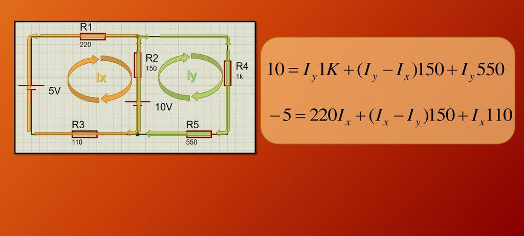 Электрическая цепь и система уравнений