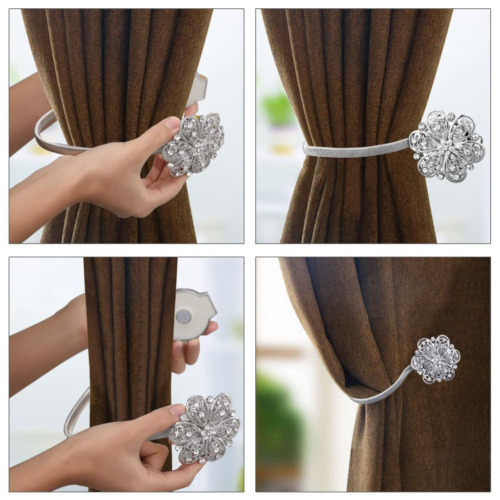 magnetic clip for curtains