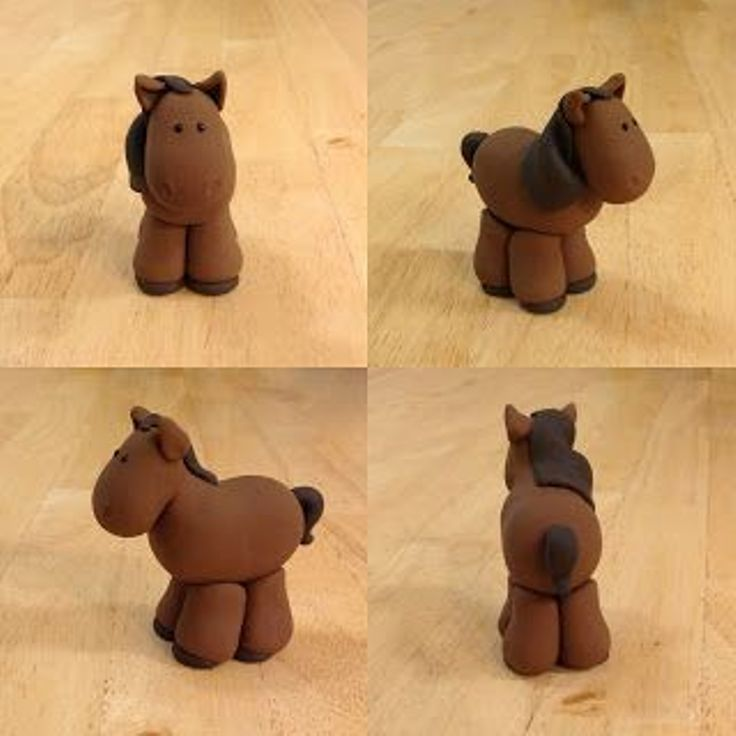 plasticine horse step by step