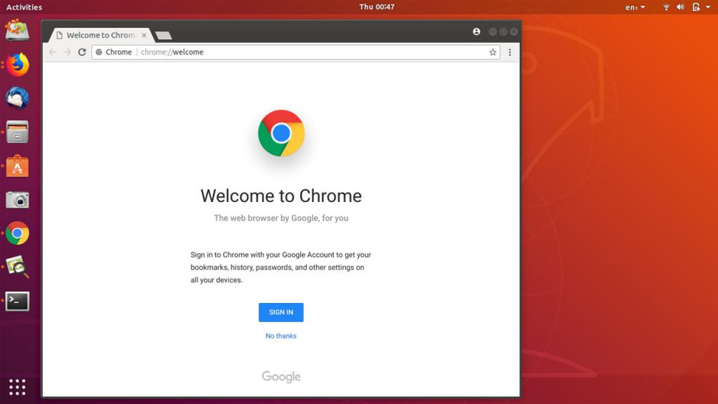 Завершение процесса установки Chrome на ПК
