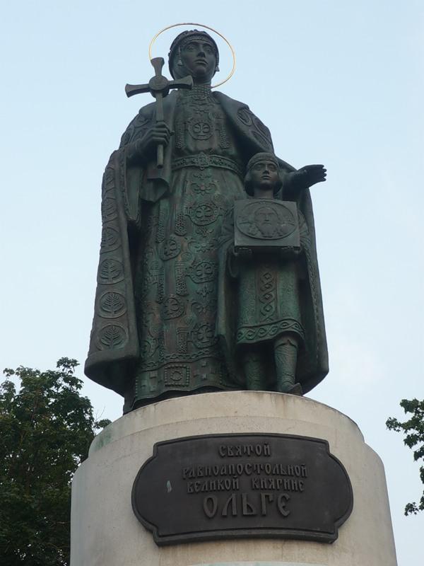 Pskov.Monument to Princess Olga