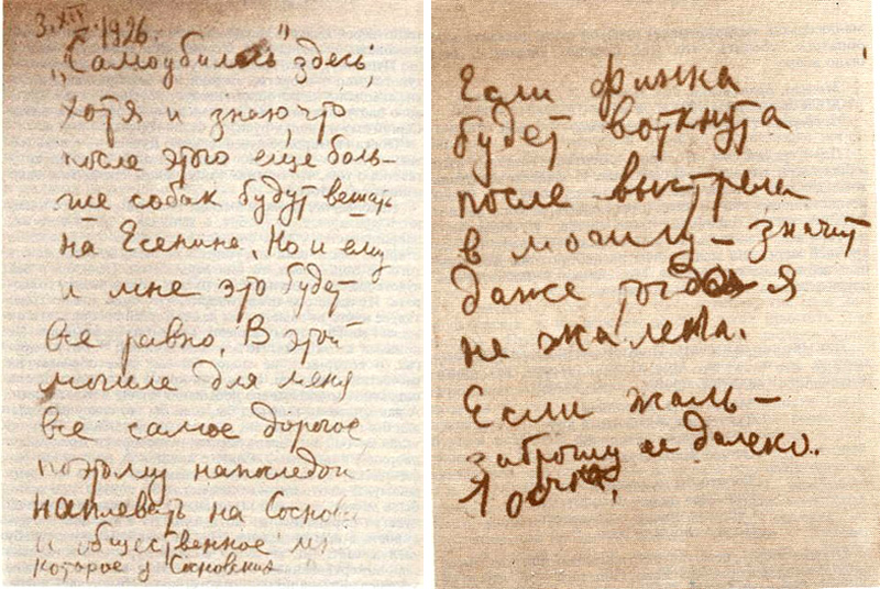 Suicide note of benislav