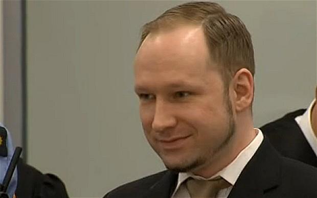 Breivik smiles in court