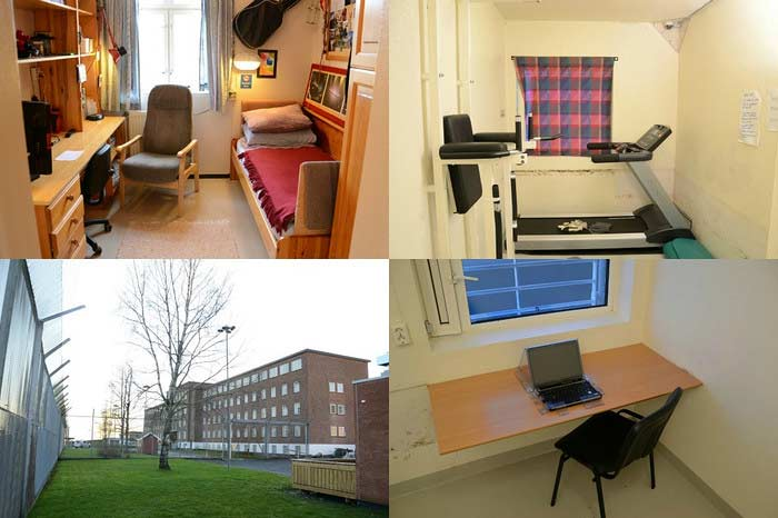 Three rooms of Breivik in prison