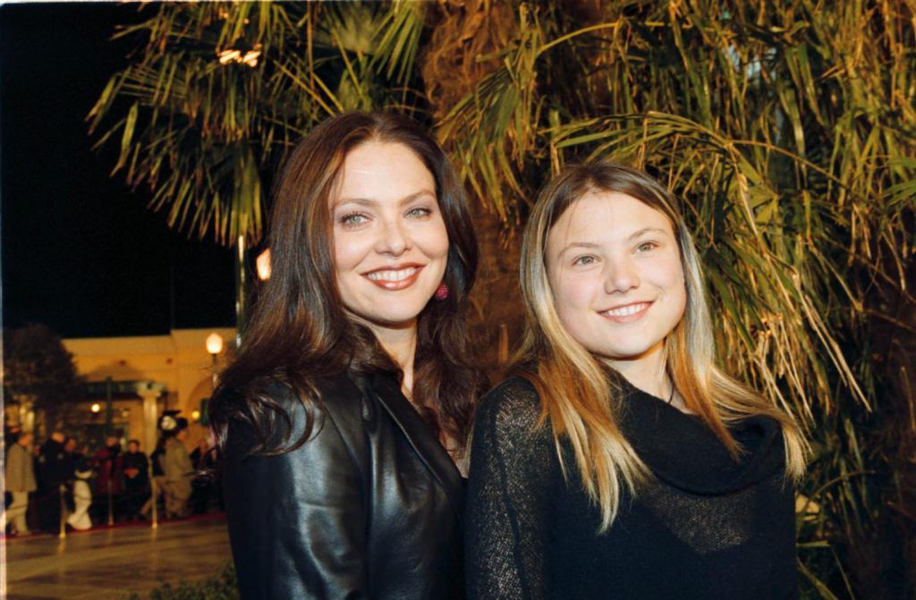 With daughter Caroline