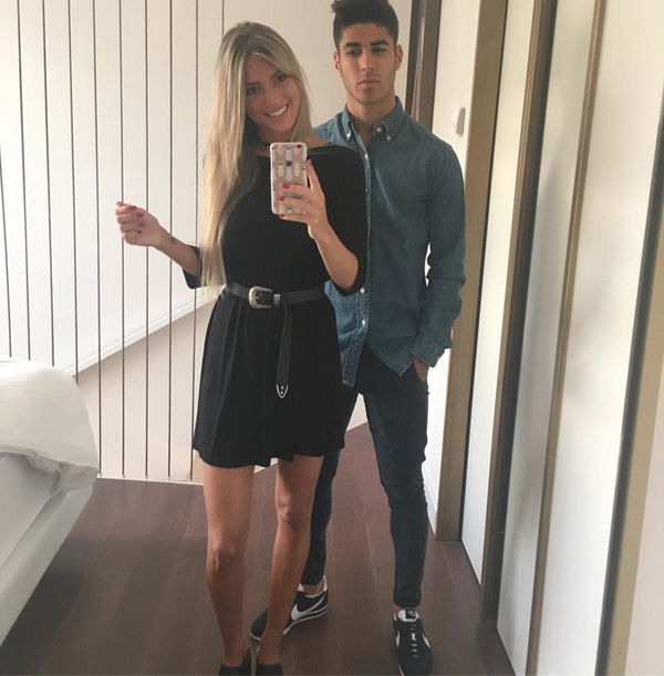 Marco Asencio with his girlfriend