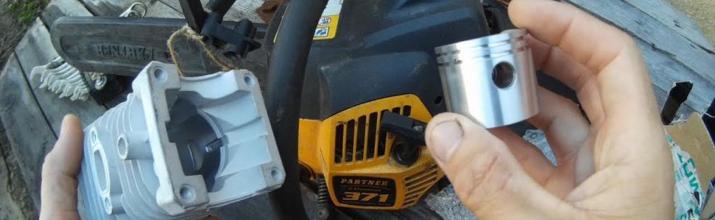замена деталей бензопила партнер 350
