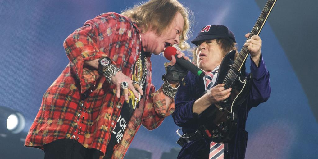 Axel Rose and Angus Young