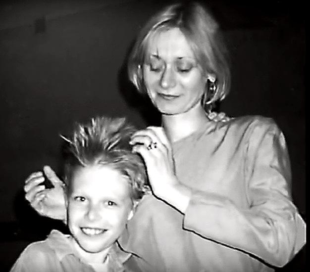 Ася Воробьева с юным сыном