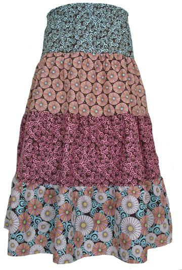 Как шить юбку ярусами
