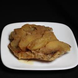 pork steak with apples