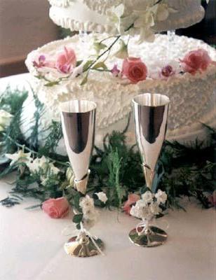 Фужеры для свадьбы своими руками
