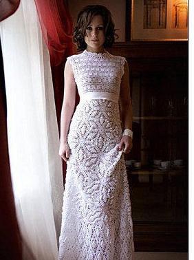 крючком схемы на свадебное платье