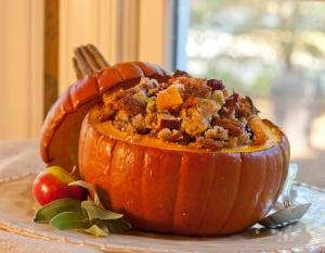 whole pumpkin baked in the oven