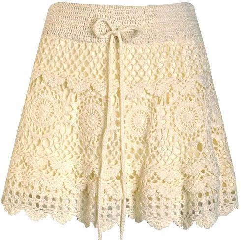 Вязание крючком юбку по кругу