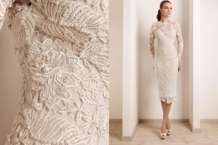 Модели платьев из гипюра