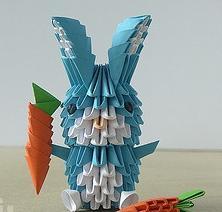 Оригами. Заяц – игрушка своими руками