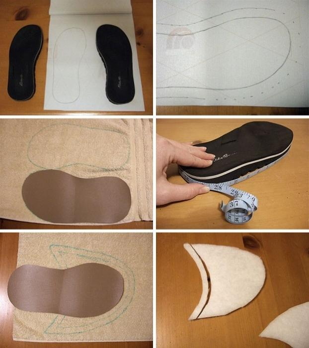 sew slippers with their own hands