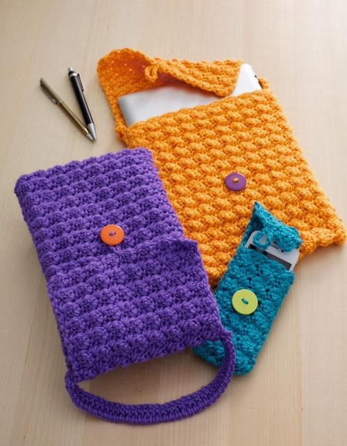 knitted phone case