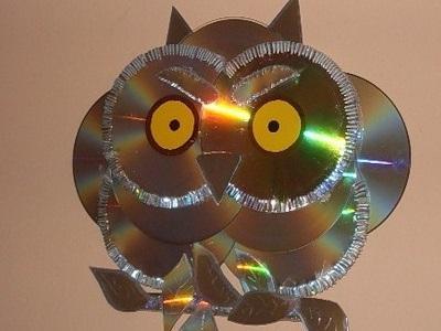 Поделка сова из дисков своими руками