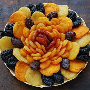 diet on dried fruits