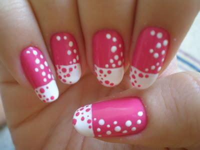 how to draw patterns on nails