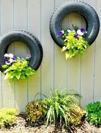 Клумба из покрышки: эксклюзивный декор садового участка своими руками