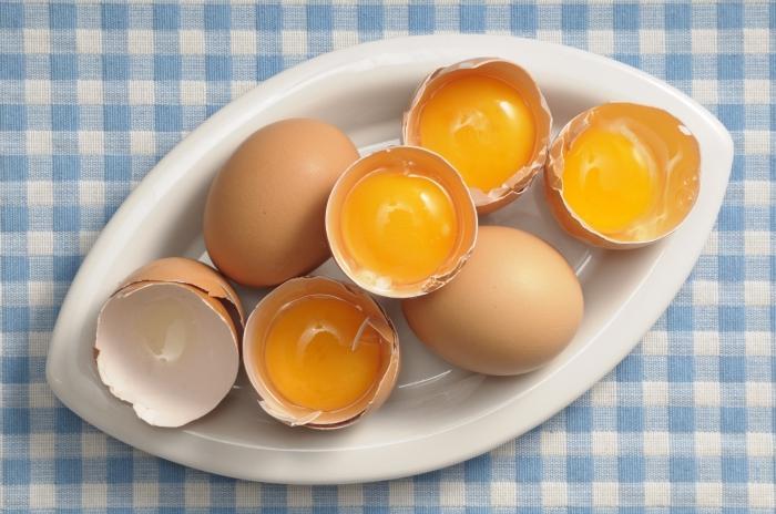 Egg hair masks