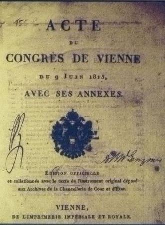 Congress of Vienna and its decisions