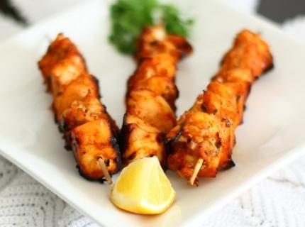 shish kebab in the oven grill