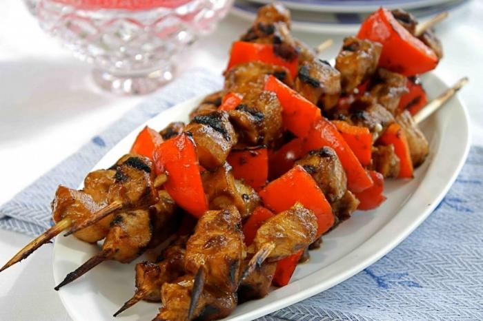 shish kebab in the oven