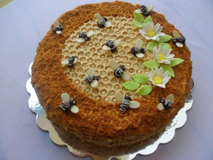 Медовый торт своими руками фото
