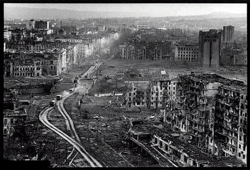 Первая Чеченская война - уничтоженный Грозный