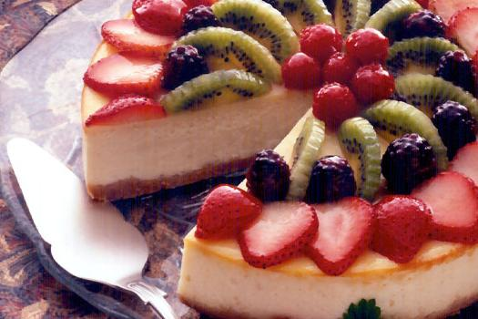 cottage cheese cake with fruit