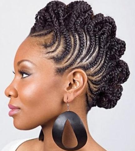Medium length hair weave