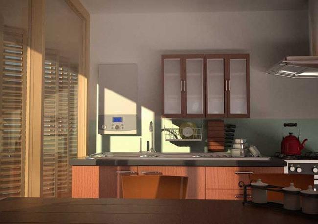 Облагородить угол кухни возле аогв Строительный