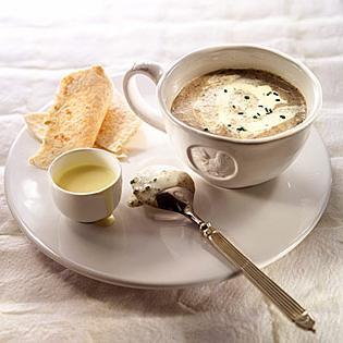 Oyster mushroom soup