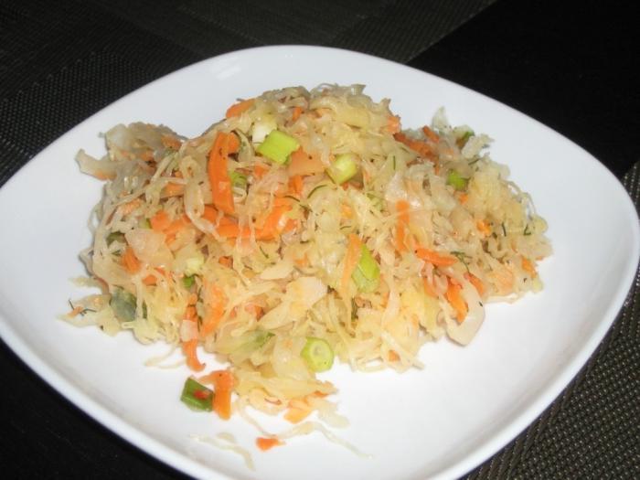 Рецепт салата из капусты моркови и кукурузы