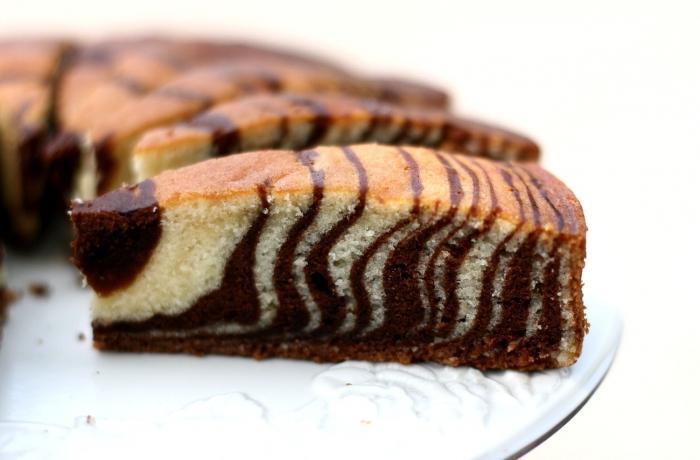 Фото рецепт кекс зебра