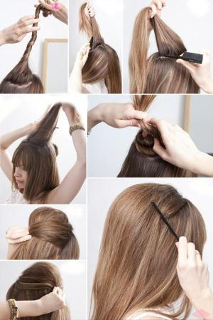 Как делать начес на короткие волосы 51