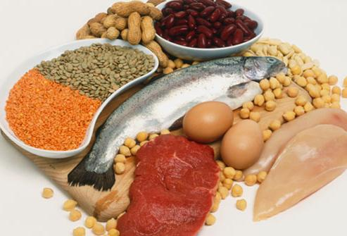 amount of proteins in foods