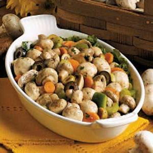 salad with pickled champignons