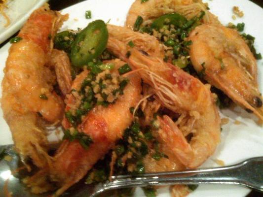 Fried shrimp in shell