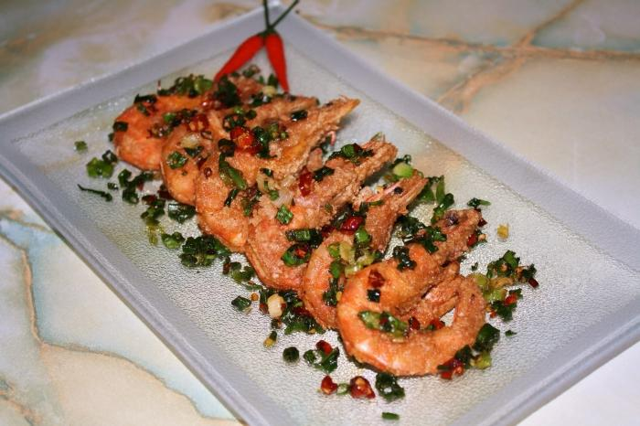 Uncooked Fried Shrimps