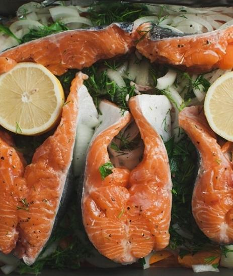 baked trout with vegetables