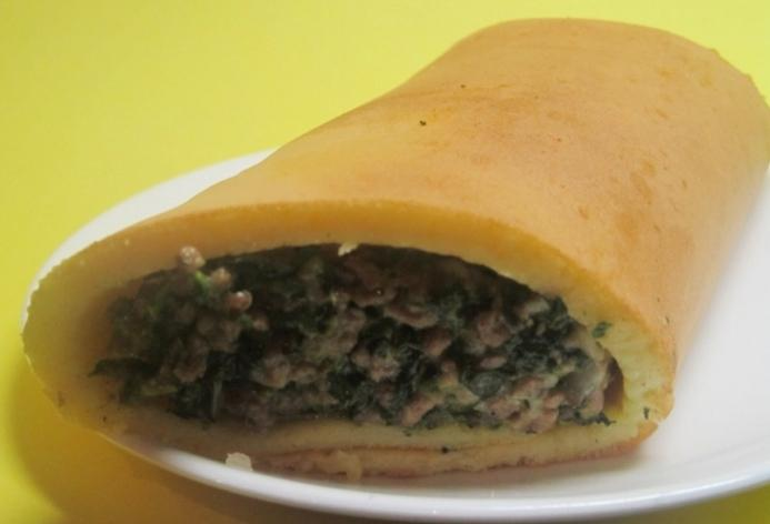 pancakes stuffed with meat