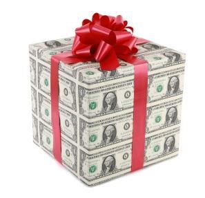 Вручение денег на день свадьбы