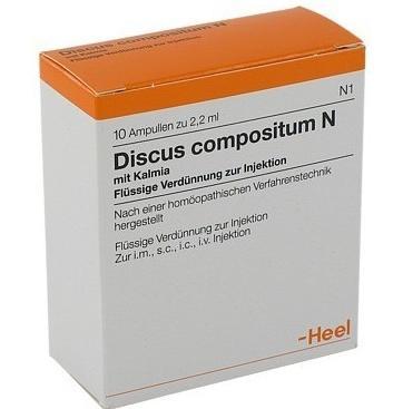 """Средство  """"Дискус Композитум """" представляет собой гомеопатический лекарственный препарат, активно применяемый в..."""
