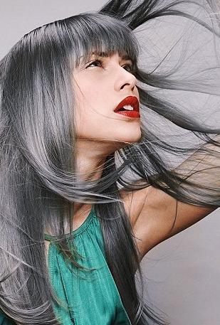 Цвет волос графит как получить