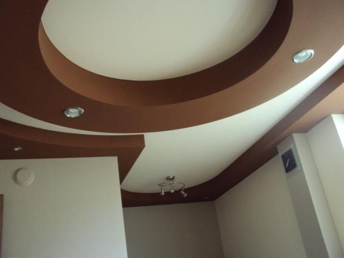 Фигурные потолки из гипсокартона своими руками фото